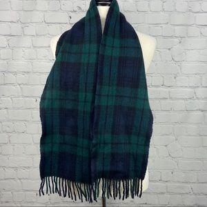 Polo Ralph Lauren blue & green plaid wool scarf